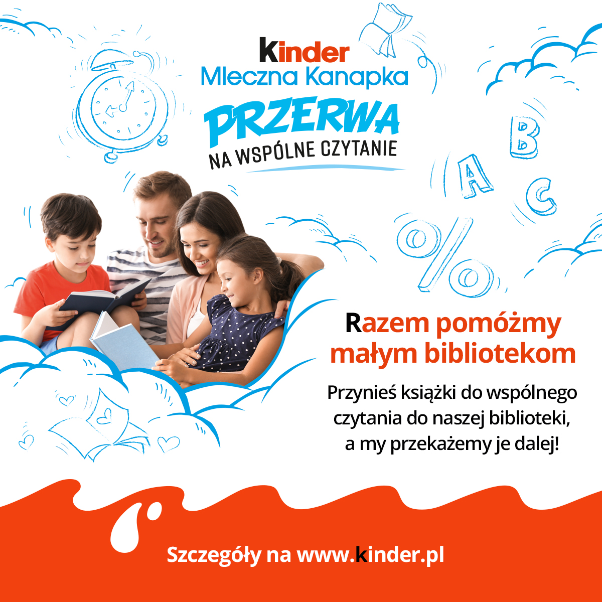 kinder plakat na post
